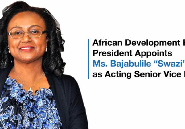 """Le Président du Groupe de la Banque africaine de développement nomme Mme Bajabulile """"Swazi"""" Tshabalala au poste de Première vice-présidente par intérim"""